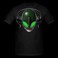 T-shirt - Reptile Alien DJ Music Lover - Green eyes!