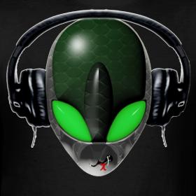 Reptile Psy alien dj design
